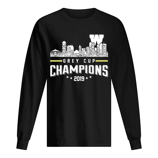 107th Grey Cup Blue Bombers Building Players Champions 2019  Long Sleeved T-shirt