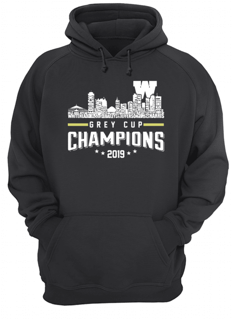 107th Grey Cup Blue Bombers Building Players Champions 2019  Unisex Hoodie