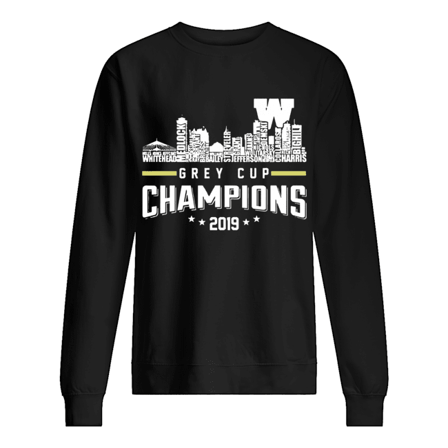 107th Grey Cup Blue Bombers Building Players Champions 2019  Unisex Sweatshirt