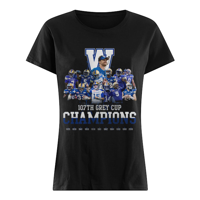 107th Grey Cup Blue Bombers Champions  Classic Women's T-shirt