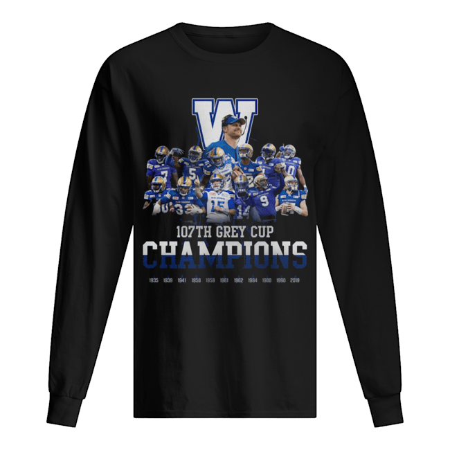 107th Grey Cup Blue Bombers Champions  Long Sleeved T-shirt