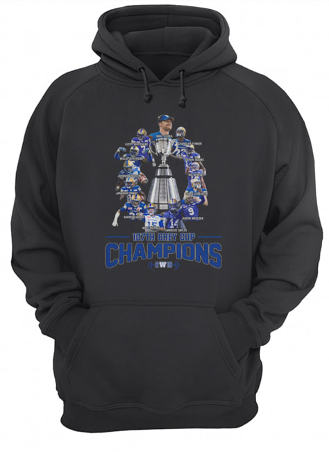 107th Grey Cup Blue Bombers Players Champions 2019  Unisex Hoodie