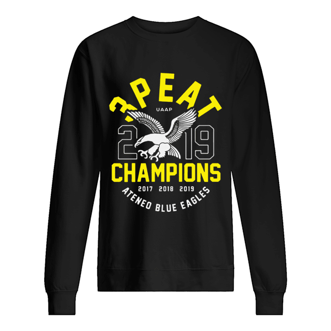 3peat UAAP 2019 Champion Ateneo Blue Eagles  Unisex Sweatshirt