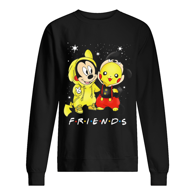 Baby Mickey Mouse And Pikachu Friends Christmas  Unisex Sweatshirt