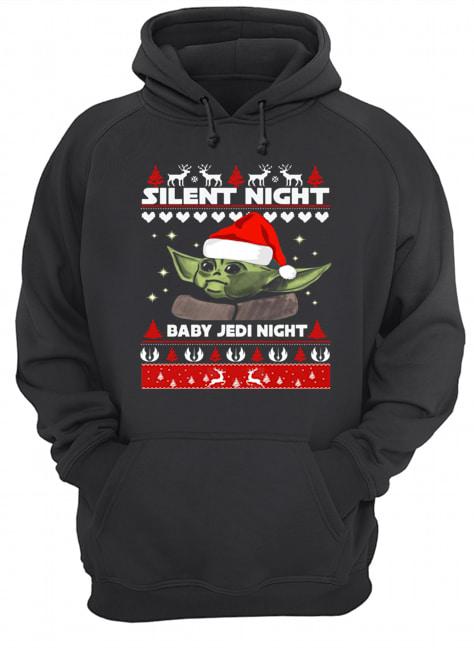 Baby Yoda Silent Night baby Jedi Knight ugly christmas  Unisex Hoodie