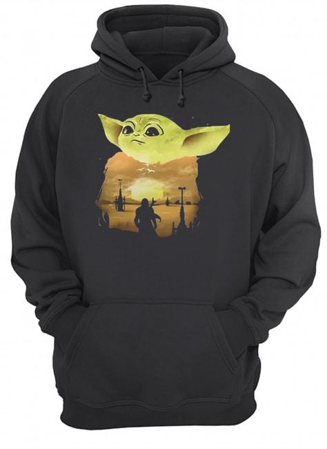 Baby Yoda Sunset  Unisex Hoodie