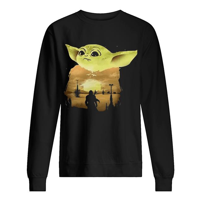 Baby Yoda Sunset  Unisex Sweatshirt