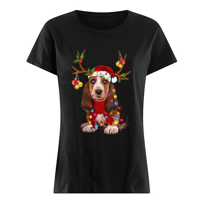 Basset Hound Gorgeous Reindeer  Classic Women's T-shirt