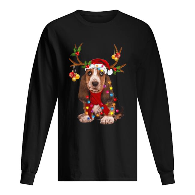 Basset Hound Gorgeous Reindeer  Long Sleeved T-shirt