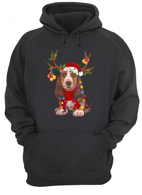 Basset Hound Gorgeous Reindeer  Unisex Hoodie