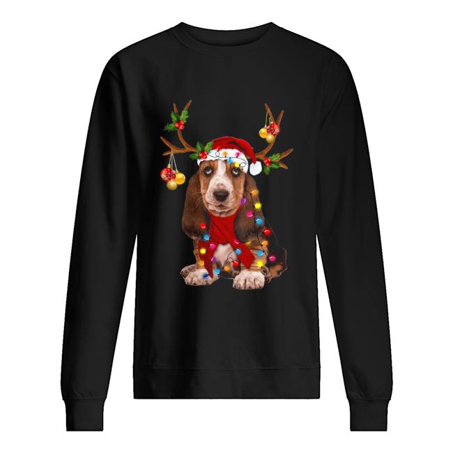 Basset Hound Gorgeous Reindeer  Unisex Sweatshirt