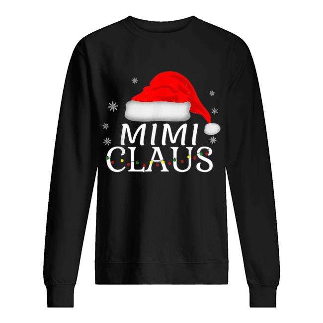 Beautiful Mimi Claus Funny Christmas Pajamas Matching Grandmother Gift  Unisex Sweatshirt