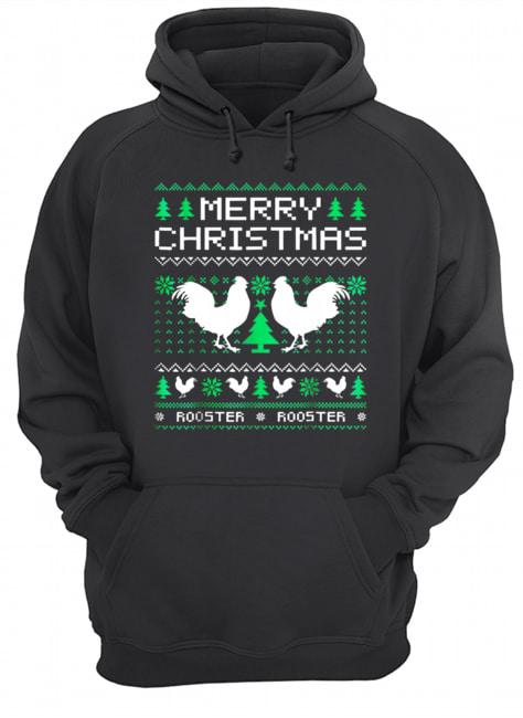 Beautiful Rooster Ugly Christmas Unisex Hoodie