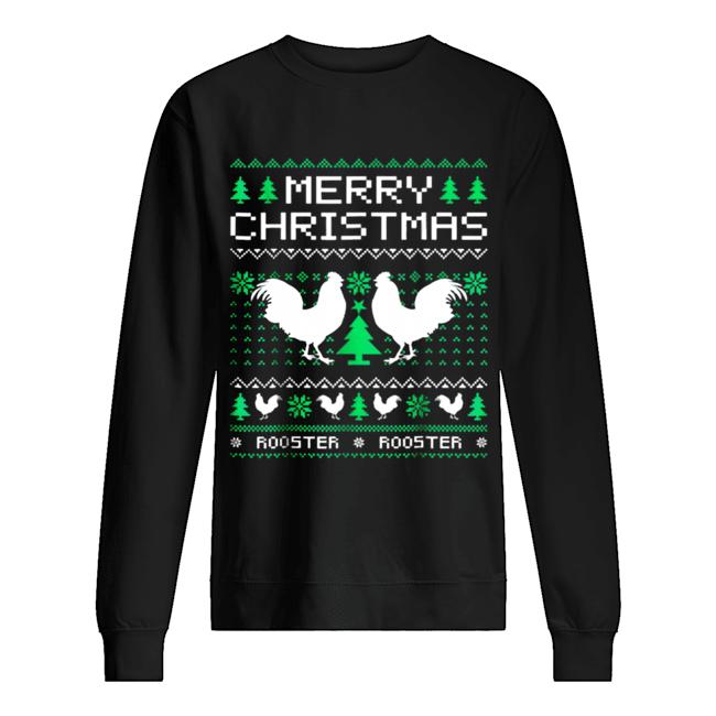 Beautiful Rooster Ugly Christmas Unisex Sweatshirt