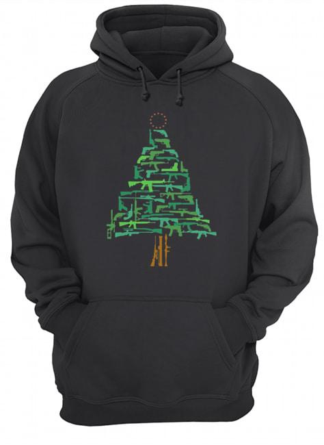 Christmas Tree Green Gun  Unisex Hoodie