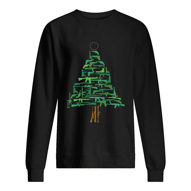 Christmas Tree Green Gun  Unisex Sweatshirt