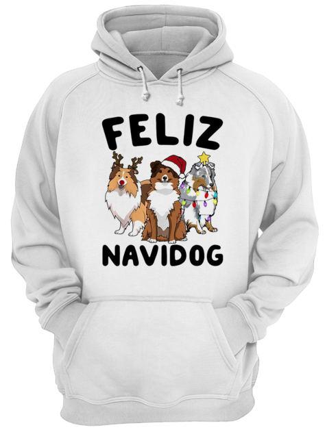 Collie Feliz navidog Christmas  Unisex Hoodie