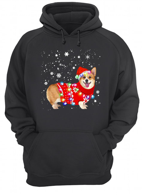 Corgi lovely christmas light Crewneck  Unisex Hoodie