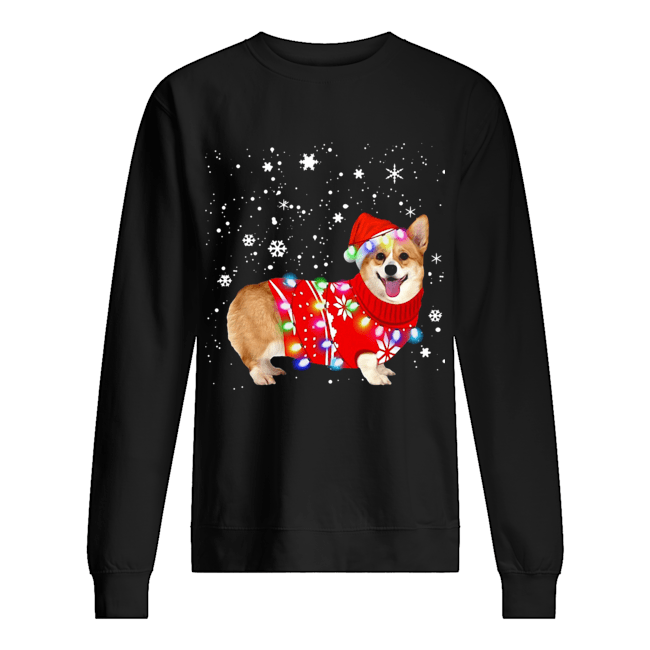 Corgi lovely christmas light Crewneck  Unisex Sweatshirt