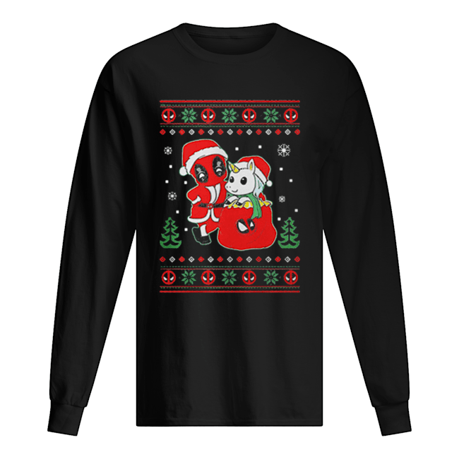Deadpool unicorn ugly Christmas  Long Sleeved T-shirt
