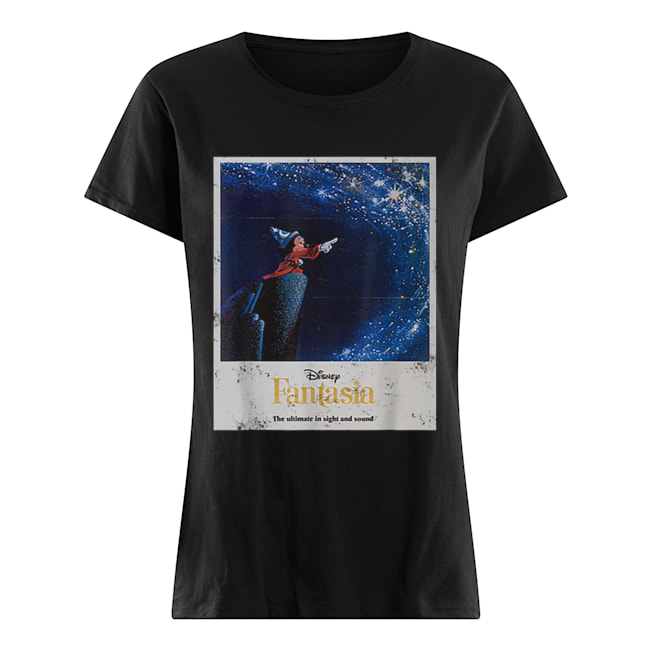 Disney Mickey Mouse Fantasia The Ultimate In Sight And Sound  Classic Women's T-shirt