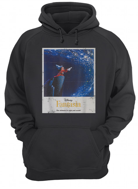 Disney Mickey Mouse Fantasia The Ultimate In Sight And Sound  Unisex Hoodie