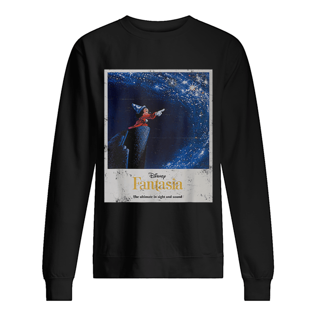 Disney Mickey Mouse Fantasia The Ultimate In Sight And Sound  Unisex Sweatshirt