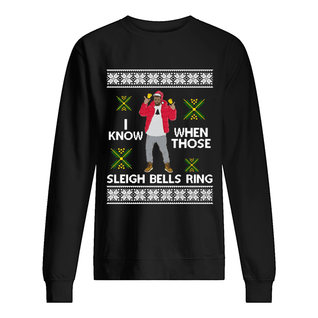 Drake I Know When Those Sleigh Bells Ring ugly christmas  Unisex Sweatshirt