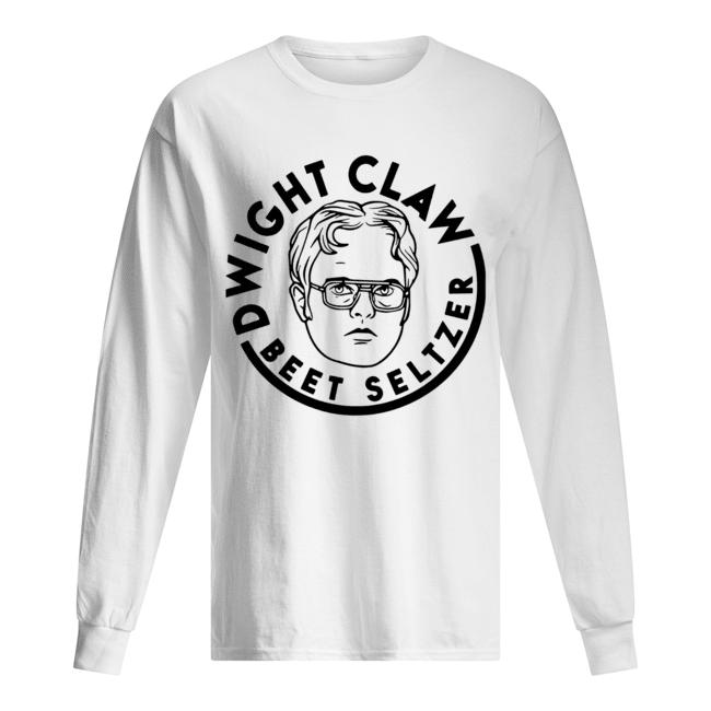 Dwight Claw Beet Seltzer  Long Sleeved T-shirt