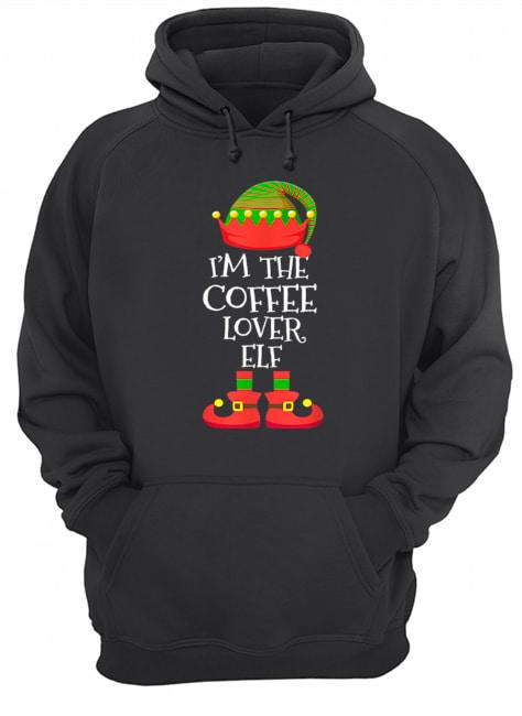 'M THE Coffee Lover ELF Christmas Xmas Elf Group Costume  Unisex Hoodie