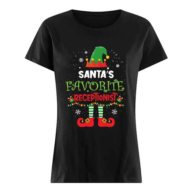 Elf Santa's Favorite Receptionist  Classic Women's T-shirt