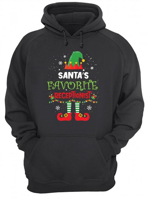 Elf Santa's Favorite Receptionist  Unisex Hoodie