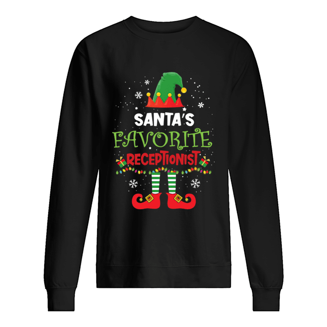Elf Santa's Favorite Receptionist  Unisex Sweatshirt
