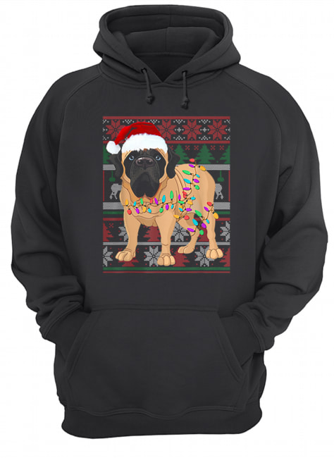 English Mastiff Ugly Sweater Christmas Gift  Unisex Hoodie