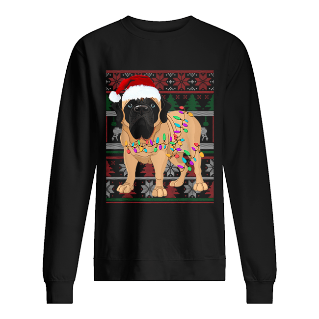 English Mastiff Ugly Sweater Christmas Gift  Unisex Sweatshirt