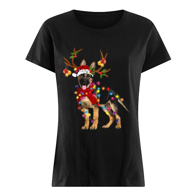 German Shepherd Gorgeous Reindeer Christmas  Classic Women's T-shirt