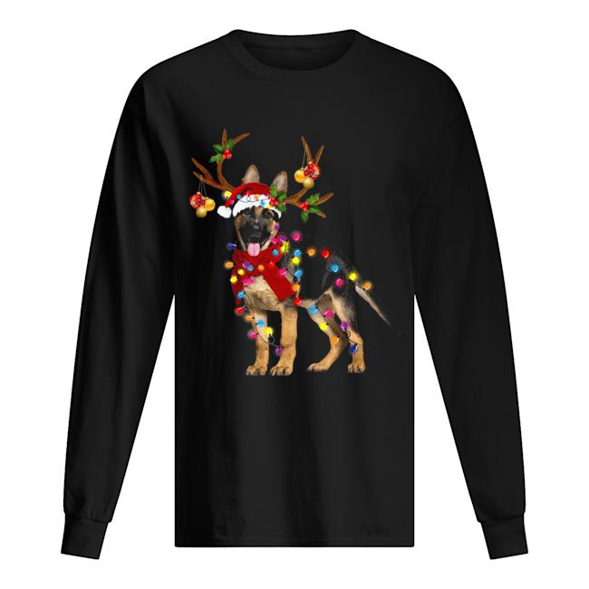 German Shepherd Gorgeous Reindeer Christmas  Long Sleeved T-shirt