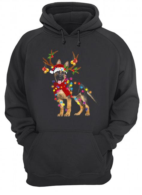 German Shepherd Gorgeous Reindeer Christmas  Unisex Hoodie