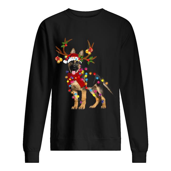 German Shepherd Gorgeous Reindeer Christmas  Unisex Sweatshirt