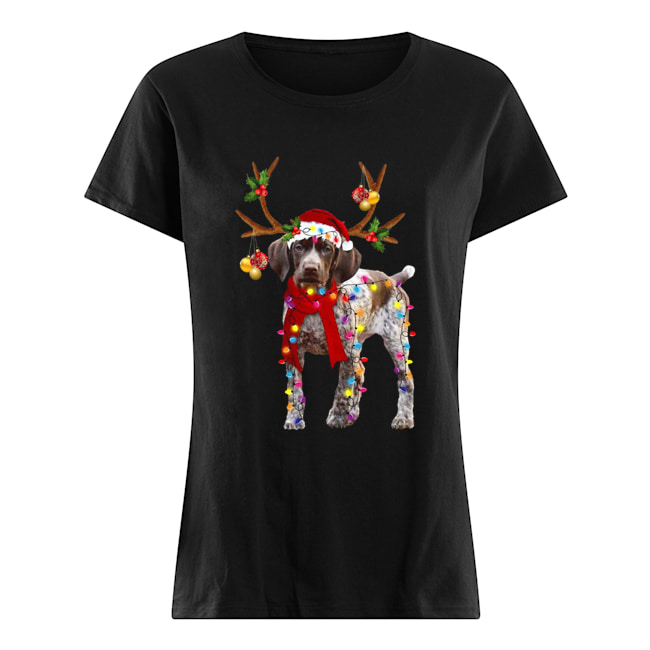 German Shorthaired Pointer Gorgeous Reindeer  Classic Women's T-shirt