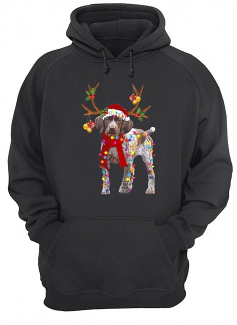 German Shorthaired Pointer Gorgeous Reindeer  Unisex Hoodie