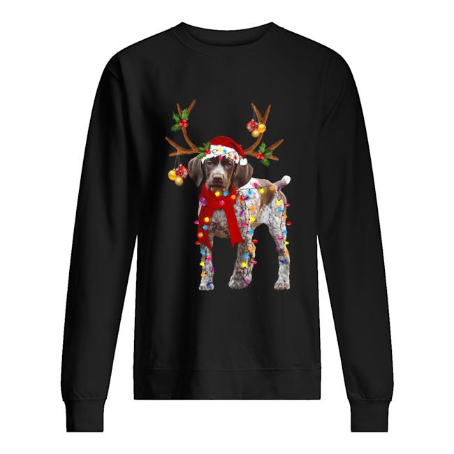 German Shorthaired Pointer Gorgeous Reindeer  Unisex Sweatshirt