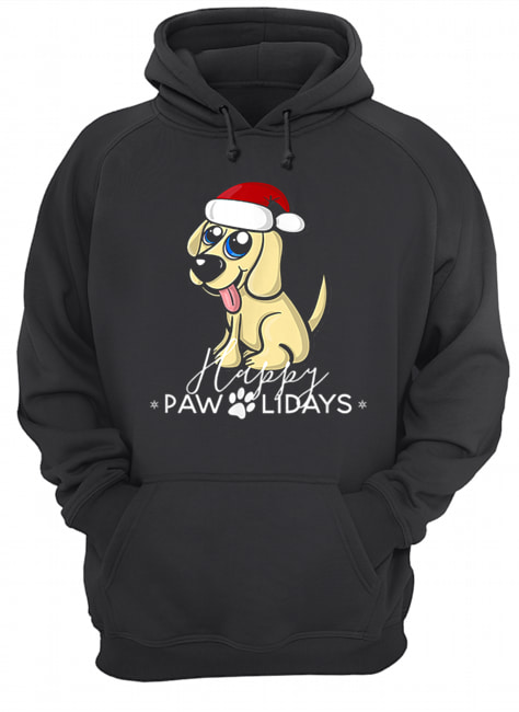 Golden Retriever Puppy Christmas Santa Hat  Unisex Hoodie
