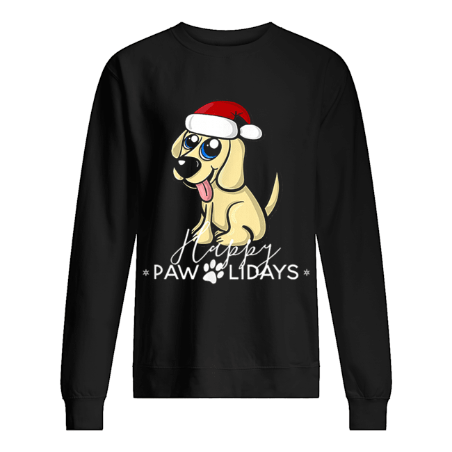 Golden Retriever Puppy Christmas Santa Hat  Unisex Sweatshirt