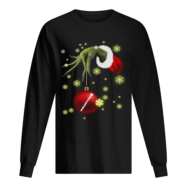 Grinch hand holding Makeup christmas  Long Sleeved T-shirt