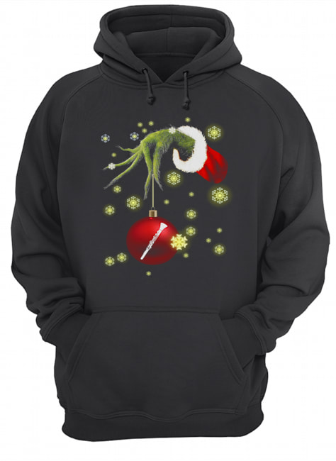 Grinch hand holding Makeup christmas  Unisex Hoodie