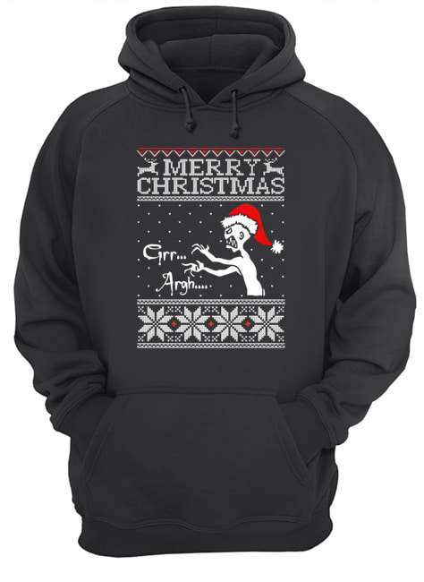 Grr Argh Vampire Monster Merry Christmas Ugly  Unisex Hoodie