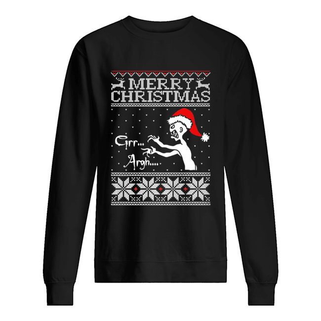 Grr Argh Vampire Monster Merry Christmas Ugly  Unisex Sweatshirt