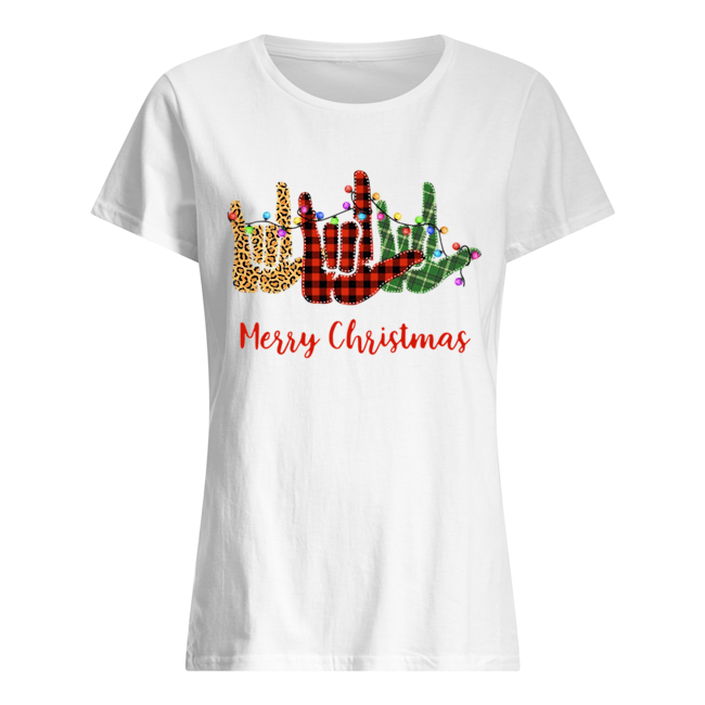 Hand I Love You Merry Christmas  Classic Women's T-shirt