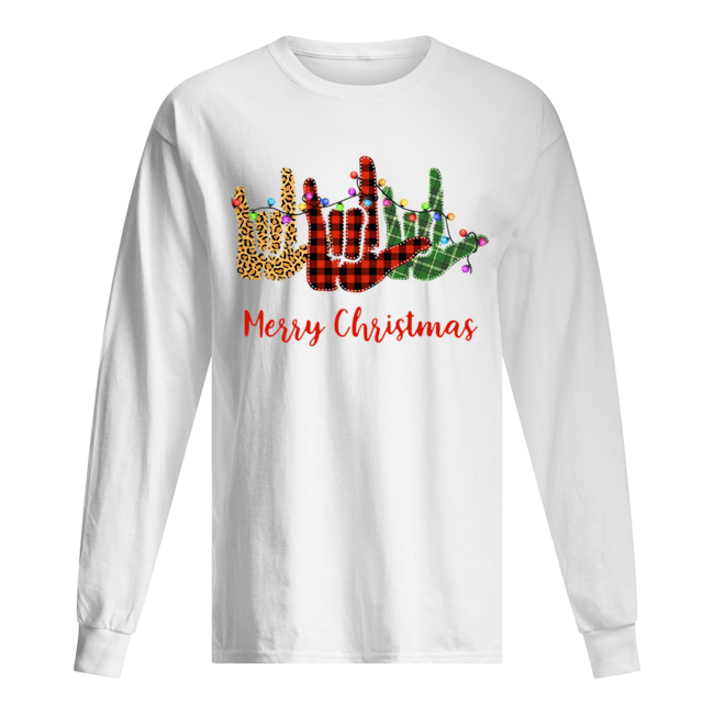 Hand I Love You Merry Christmas  Long Sleeved T-shirt